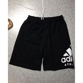 ADIDAS 2018 new men's hipster side classic big logo trendy pants F-AA-XDD black