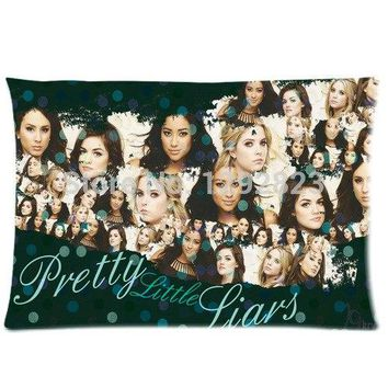 Soft Flannel Pretty Little Liars Custom Zippered Pillow case 20x30 (one side) PC-1118