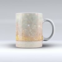The Pink and Gold Shimmering Lights ink-Fuzed Ceramic Coffee Mug
