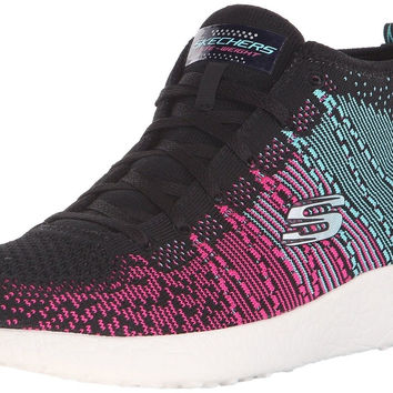 Skechers Sport Women's Burst Divergent Demi Boot Sneaker Black/Blue 5 B(M) US