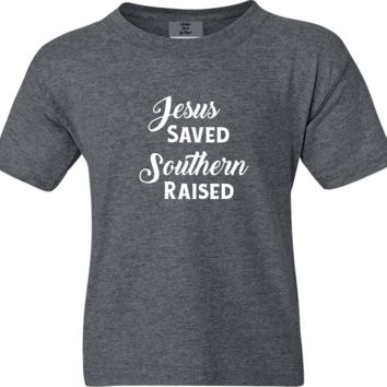 Jesus Saved Southern Raised Short Sleeve Shirt