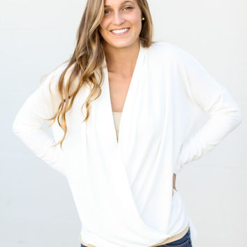 Draped In Love Top - Ivory