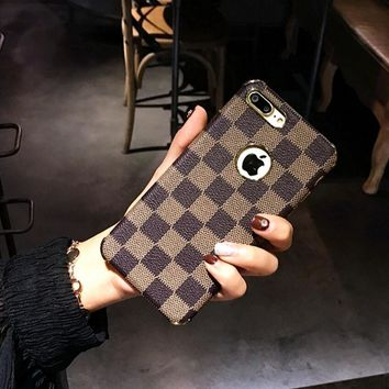 One-nice™ LV Iphone 7plus mobile phone shell creative luxury gra personality i6 female new popular logo 6P