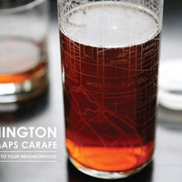 Washington DC Street Maps Carafe