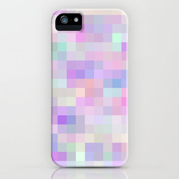 Re-Created Colored Squares No. 31 iPhone & iPod Case by Robert Lee