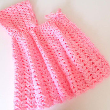 Pink Cape Baby Girl Crochet