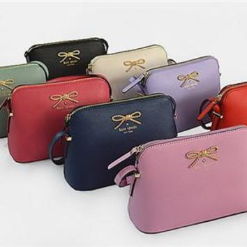 """Kate Spade"" Fashion All-match Classic Bow Single Shoulder Messenger Bag Women Temperament Shell Bag"