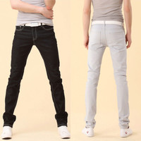 New Mens Stylish Candy Pants Casual Skinny Slim Elasticity Pants Jeans Trousers