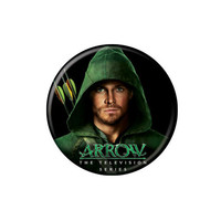 Arrow Hooded Oliver Queen Button