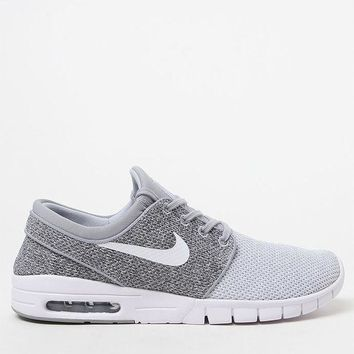CREYONDI5 Nike SB Stefan Janoski Max Knit Grey and White Shoes