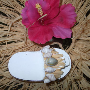 Beach Destination Wedding Flip Flop Ring Bearer pillow Box with Sand Shells Raffia Favor Box