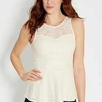 lacy peplum top | maurices