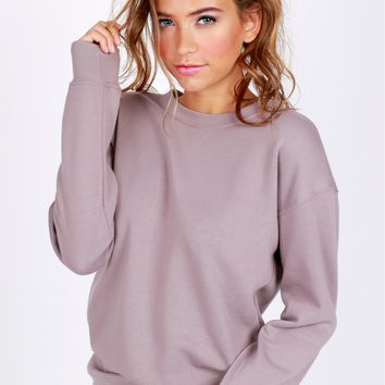 Basic Sweatshirt Dusty Lavender