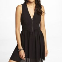 ZIP FRONT BABYDOLL DRESS