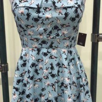 Dog Print Rockabilly Dress