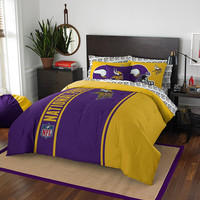 Minnesota Vikings NFL Full Comforter Bed in a Bag (Soft & Cozy) (76in x 86in)