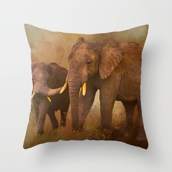 TRUST Throw Pillow by Theresa Campbell D'August Art