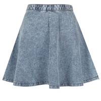 MOTO Acid Wash Swing Skirt - Skirts - Clothing - Topshop USA