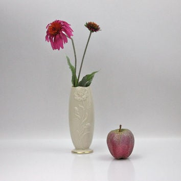 LENOX Bud Vase / Limited Edition / Ivory Bone China, 24kt Gold / Home Decor