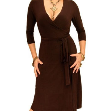 Blue Banana - Elegant Slinky Wrap Dress