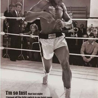 Muhammad Ali I'm So Fast Quote Poster 24x36