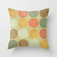 Autumn Circles  Throw Pillow by Rachel Burbee | Society6