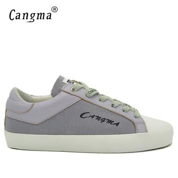 CANGMA Italy Brand Sneakers Men Delicate Canvas Shoes Breathable Flats Shoes Gray And Purple Mans Footwear Zapatos Hombre Male