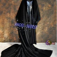 J7189 Movies Cosplay Costume Deluxe Dress maleficent adult black from angel-secret