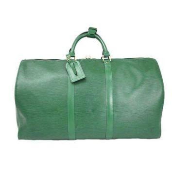 DCCKU3N Pre-owned Louis Vuitton Green Keepall 50 Boston Bag