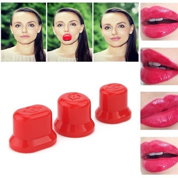 Beauty Tool Full Plumper Lip Enhancer Pump Lips Plump Round Gift