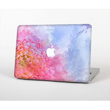 "The Pink to Blue Faded Color Floral Skin Set for the Apple MacBook Pro 15"" with Retina Display"