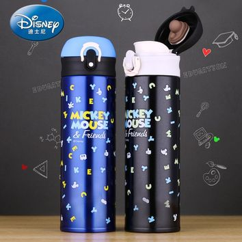 Disney 500ML Thermos Mug mickey mouse Stainless Steel Insulated Thermo Cup locked leak-proof Vacuum Flasks Tumbler Thermoses