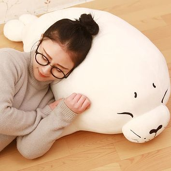 1pcs40cm/60cm/80cm/100cm Lovely Soft Elastic Seals Marine Animal Plush Stuffed Pillow Creative Holiday Gift