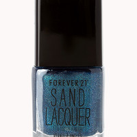 Blue Jewel Textured Nail Polish