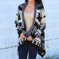 Sparkle and Shine Sweater Cardigan {Black}