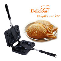 Taiyaki Maker Home DIY Japanese Fish-Shaped Bakeware Waffle Pan with 2 Sided Taiyaki Fish Mold Cake Tools