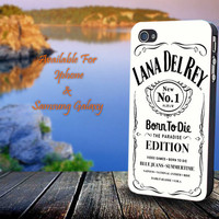 Lana Del Rey Jack Daniels White - Print on hard plastic for iPhone case. Please choose the option.