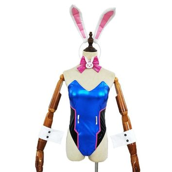 Women Custom Cosplay Costume DVA Bunny Girl Suits Sexy Party Costumes Game Roleplay Lingerie Bodysuit