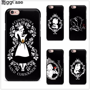 Snow White Cinderella Beauty and the Beast TPU Soft silicone Phone Cover Case For iPhone 5 5S SE 6 6S Plus 7 7Plus 8 8Plus X 10