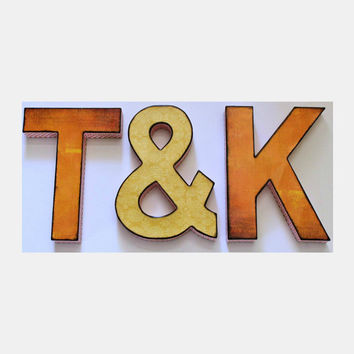 Monogram Initials Ampersand Custom Colors Wedding Photo Prop