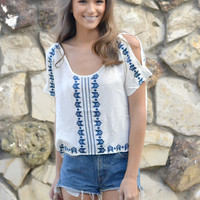 Landon Split Shoulder Blouse