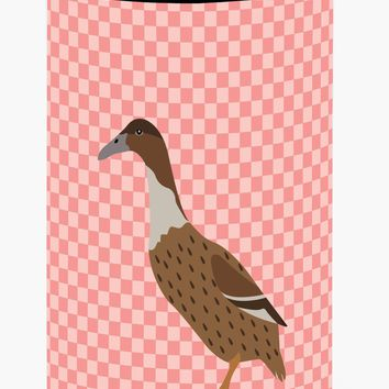 Dutch Hook Bill Duck Pink Check Tall Boy Beverage Insulator Hugger BB7861TBC