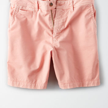 "AE Ne(X)t Level Slim Fit 7"" Khaki Short, Pink"