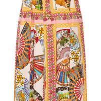 Dolce & Gabbana - Printed cotton midi skirt