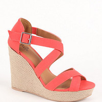 Black Poppy Hampton Wedge Update Sandals at PacSun.com