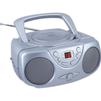Sylvania Portable Cd Radio Boom Box (silver)