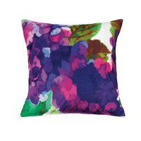Purple Impressionist Style Throw Pillow