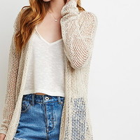 Longline Open-Knit Cardigan