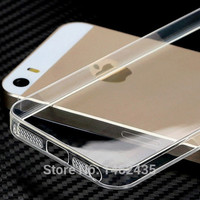 New Crystal Clear/Transparent Black Soft Silicone TPU Cover Case phone cases for iPhone 5 5S