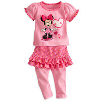 Disney Minnie Mouse Top and Skirt with Leggings Set for Baby | Disney Store